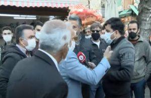 Hakaretlere uğrayan muhabir sokak röportajını yarıda kesti