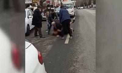 Bir kadın daha sokak ortasında darp edildi!