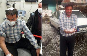 Yozgat'ta dolu yağışı hastanelik etti
