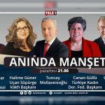 Gazeteci Uğur Dündar, saat 21.00'de Anında Manşet'te!