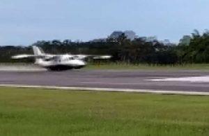 İniş takımları açılmayan uçak böyle indi