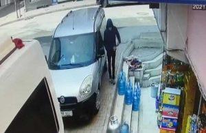 Araba hırsızları güvenlik kamerasına yakalandı