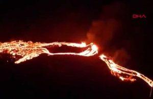 İzlanda'daki yanardağ yüzyıllar sonra faaliyete geçti