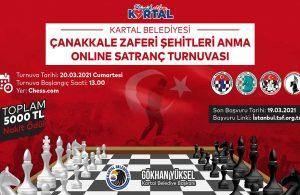 Kartal Belediyesi'nden Çanakkale Zaferi ve Şehitleri Anma Online Satranç Turnuvası