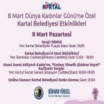 Dünya Kadınlar Günü Kartal'da çeşitli etkinliklerle kutlanacak