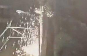 Metro seferlerini durduran patlama böyle görüntülendi