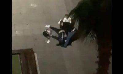 Sokak ortasında bir kadını darp eden erkek gözaltına alındı