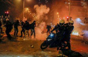 Atina'da polisler protesto edildi: 1 yaralı, 5 gözaltı