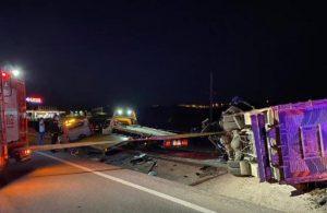 Otomobile çarpan kamyonet karşı şeride geçerek ambulansa çarptı: 4 ölü, 2 yaralı