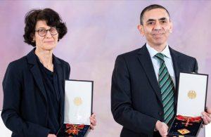 Özlem Türeci ve Uğur Şahin'e Liyakat Nişanı verildi