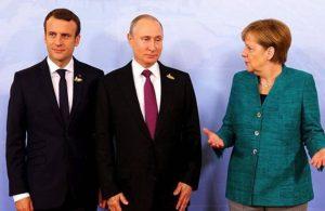 Putin, Merkel ve Macron'dan üçlü zirve