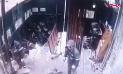 İşçinin ölümden döndüğü kaza güvenlik kamerasında