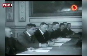 TBMM ilk kez paylaştı: İşte 100 yıllık anlaşmanın görüntüleri