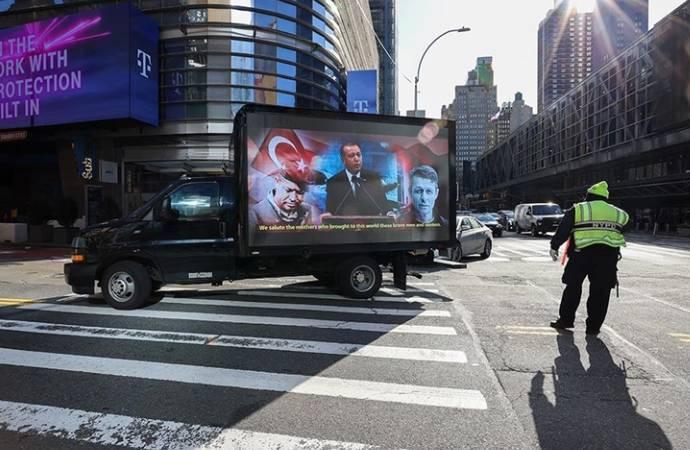 New York'taki 'Stop Erdoğan' ilanına karşılık verildi