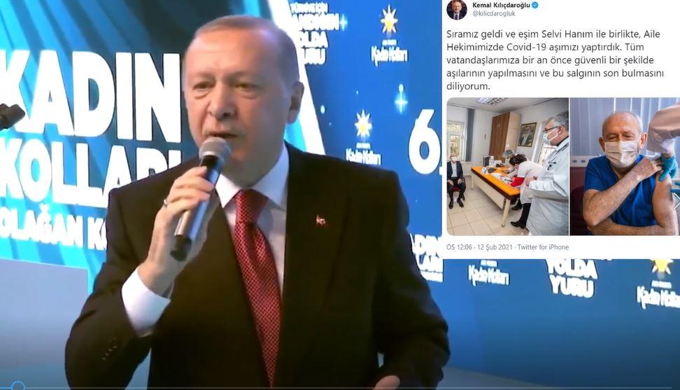 Erdoğan'dan sırası gelince aşı olan Kılıçdaroğlu'na: Hani sıran gelince olacaktın