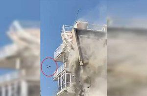Bina yıkılırken terastan düşen kedi ağır yaralandı