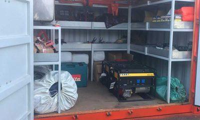 Hırsızlar deprem konteynerlerini hedef aldı
