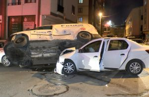Ümraniye'de otomobil ve hafif ticari araç çarpıştı: 1 yaralı