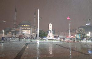 İstanbul'da gece aralıklarla kar yağışı etkili oldu