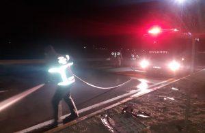 Sivas'ta takla atan otomobilin sürücüsü yaralandı