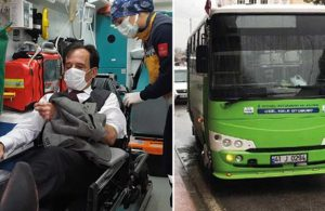 Durak dışında otobüse binmek isteyen kişi, kendisini uyaran şoföre saldırdı
