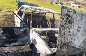 Tekirdağ'da park halindeki otomobil alev alarak yandı
