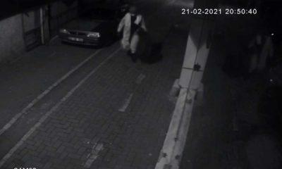 Filyasyon görevlisi kılığına giren hırsız güvenlik kamerasında