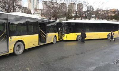 İstanbul'da İETT otobüsleri kafa kafaya çarpıştı