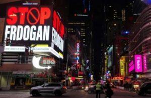 New York'taki 'Stop Erdoğan' ilanına soruşturma