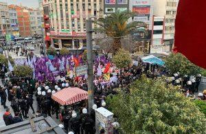 Kadıköy'de 'Kararı geri çek, sözleşmeyi uygula' diyen yüzlerce kadına polis ablukası