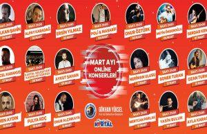 Müzik sektörüne destek konserleri mart ayı boyunca da devam edecek