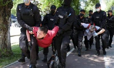 Kazakistan'da siyasi tutuklu protestosu: 50 gözaltı