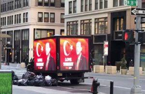 AKP, 'Love Erdoğan' kampanyasını New York'a taşıdı