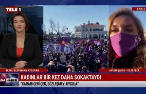 Ayşen Şahin: Sözleşmeden çekilinmesiyle bütün kadınlar tehdit altında – HAFTA SONU ANA HABER