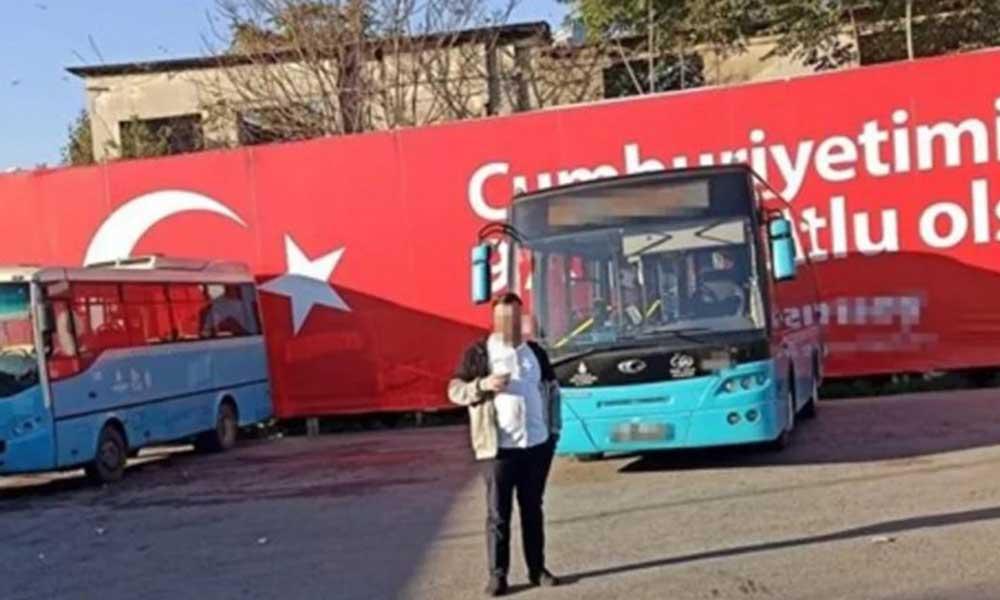 Otobüs şoförü ışıkları kapatıp kadın yolcuyu taciz etti