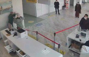 Samsun'da sağlık çalışanına şiddet kamerada: Gözaltına alındı