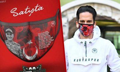 Konyaspor'un şehitlerin ismini bastırıp satışa çıkardığı maske tepki çekti
