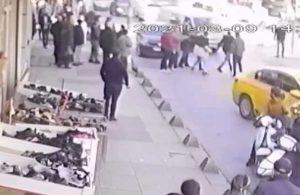 Önce taksiciye sonra kavgayı ayırmak isteyen kadına saldırdı