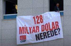 '128 milyar dolar nerede?' afişi Meclis'e asıldı