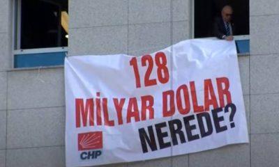 '128 milyar dolar nerede?' afişi Meclis'te