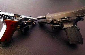 Kargoyla ruhsatsız tabanca getirten şüpheli yakalandı