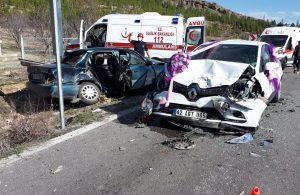 Gelin arabasının karıştığı zincirleme kazada 7 kişi yaralandı