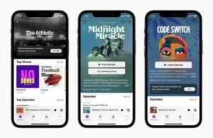 Apple Podcast Aboneliklerini tanıttı.