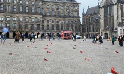 Türkiye'deki kadın cinayetleri Amsterdam'da protesto edildi
