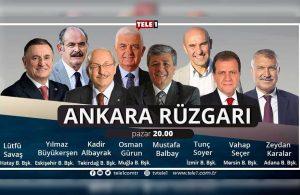 Büyükşehir Belediye Başkanları 20.00'de TELE1'de