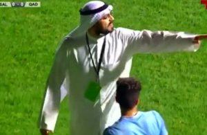 İnanılmaz dakikalar! Başkan sahaya indi, penaltı iptal edildi