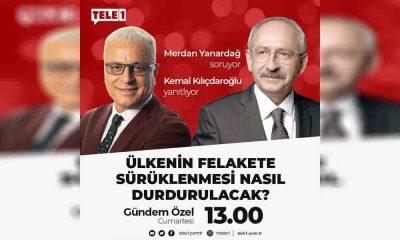 Kemal Kılıçdaroğlu TELE1'e konuk oluyor