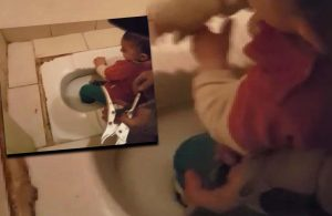 Tuvalet deliğine ayağı sıkışan çocuk dehşeti yaşadı