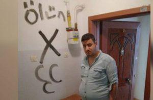 Elazığ'da provokasyon: Evi işaretleyip 'üç hilal' çizdiler
