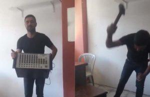 Ekonomik zorluk yaşayan müzisyen müzik aletini kırdı: Kendi memleketimizde mülteci olduk
